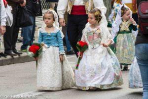 Fallas in Valencia Blumenparade