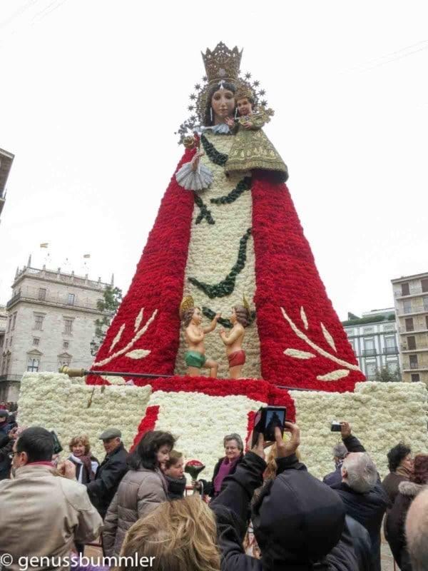 Fallas in Valencia Statue