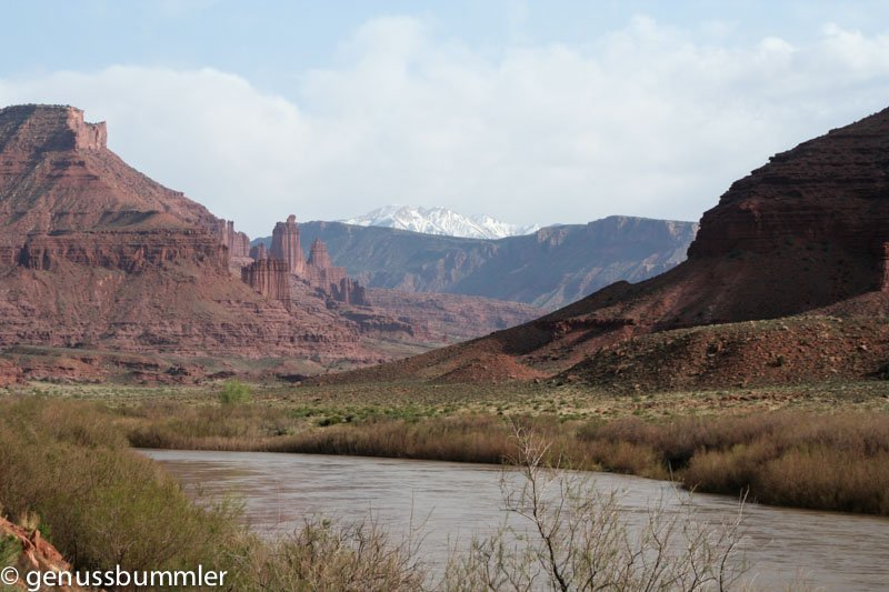 Arches Nationalpark Highway 128 Colorado River