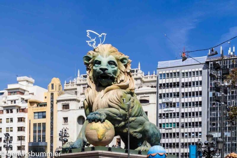 Fallas in Valencia Falla