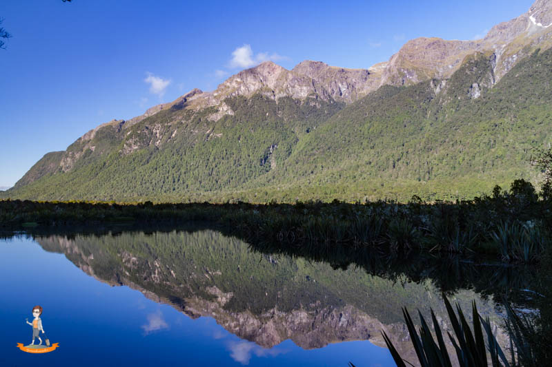 Milford Road mirror lake
