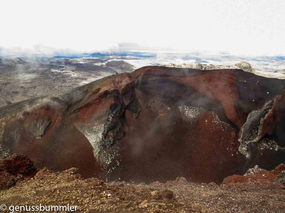 Neuseeland Tongariro Alpine Crossing Red Crater