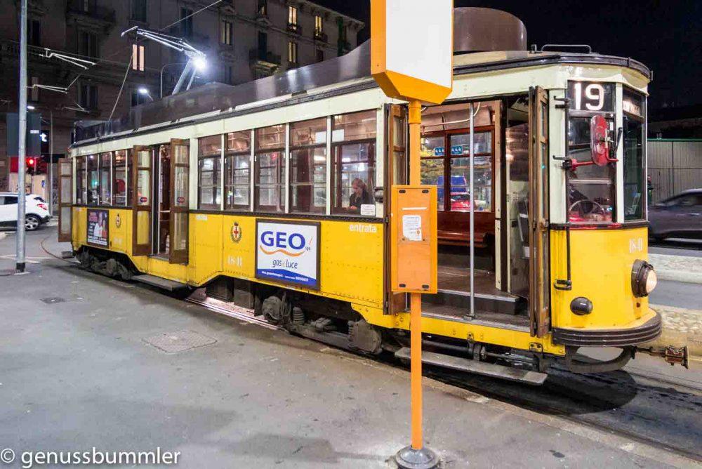 Reise nach Mailand Straßenbahn