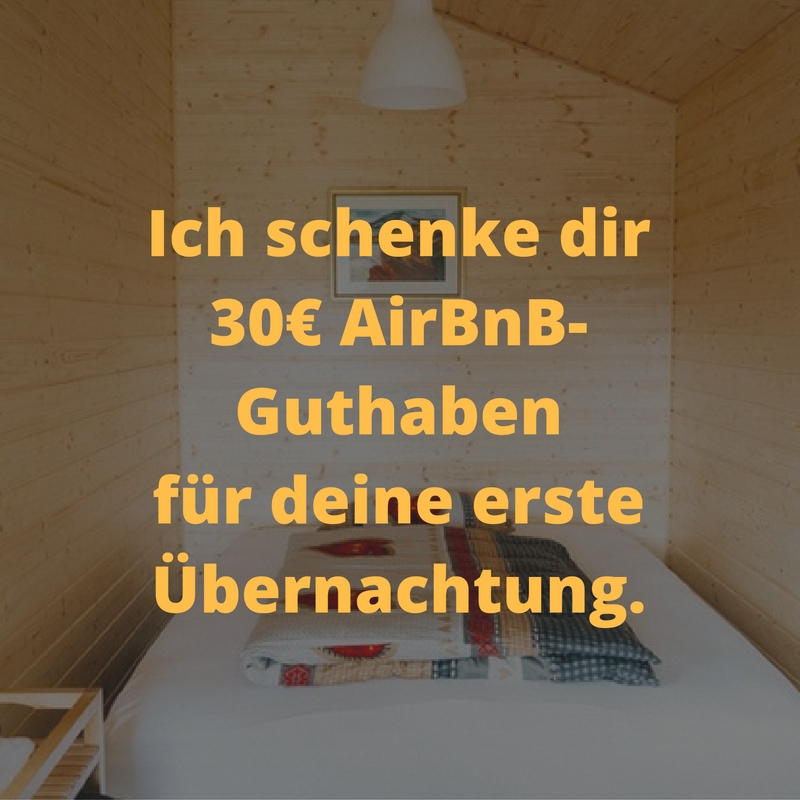 Dein Guthaben für AirBnB