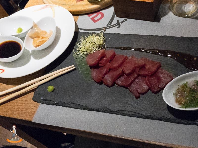 Sansibar Duesseldorf Thunfisch Sashimi