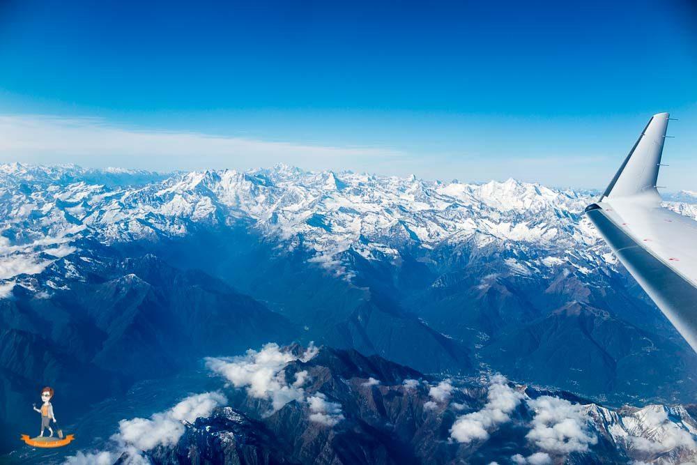 Langstreckenflug Tipps Blick aus Flugzeug