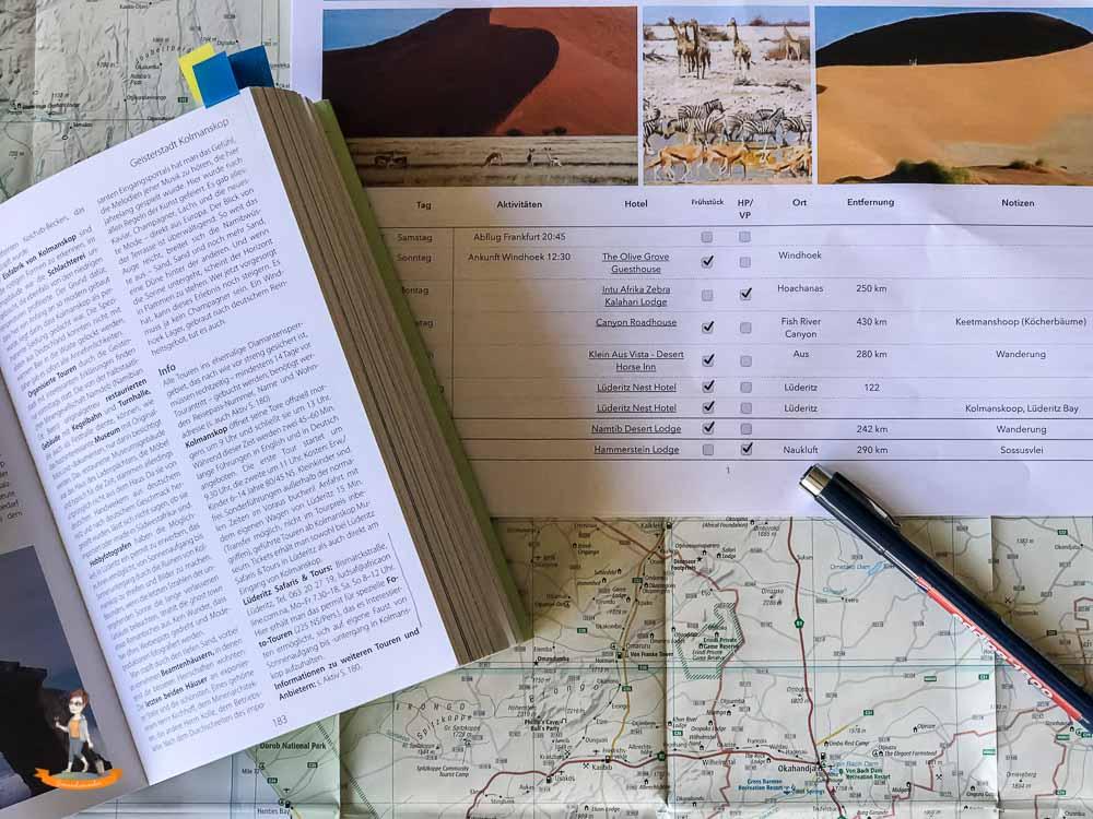 Planung Namibia