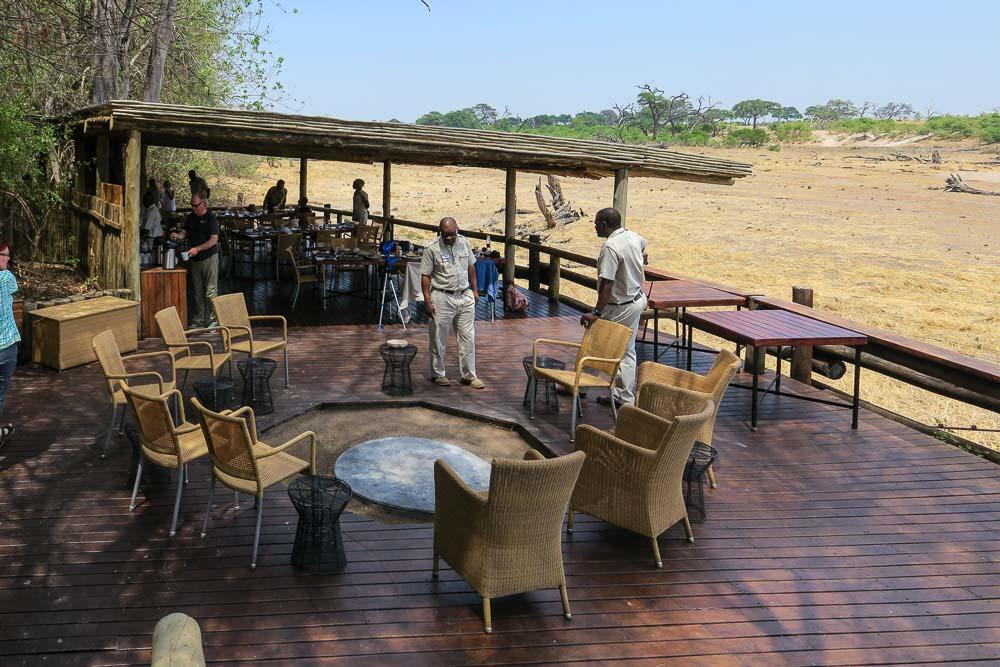Botswana Savute Chobe Nationalpark Terrasse