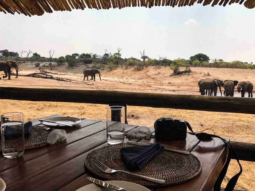 Botswana Savute Safari Camp Chobe Nationalpark Terrasse