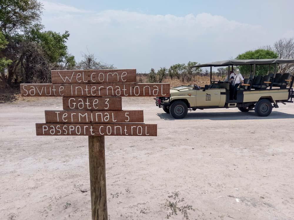 Botswana Savute Chobe Nationalpark Flughafen
