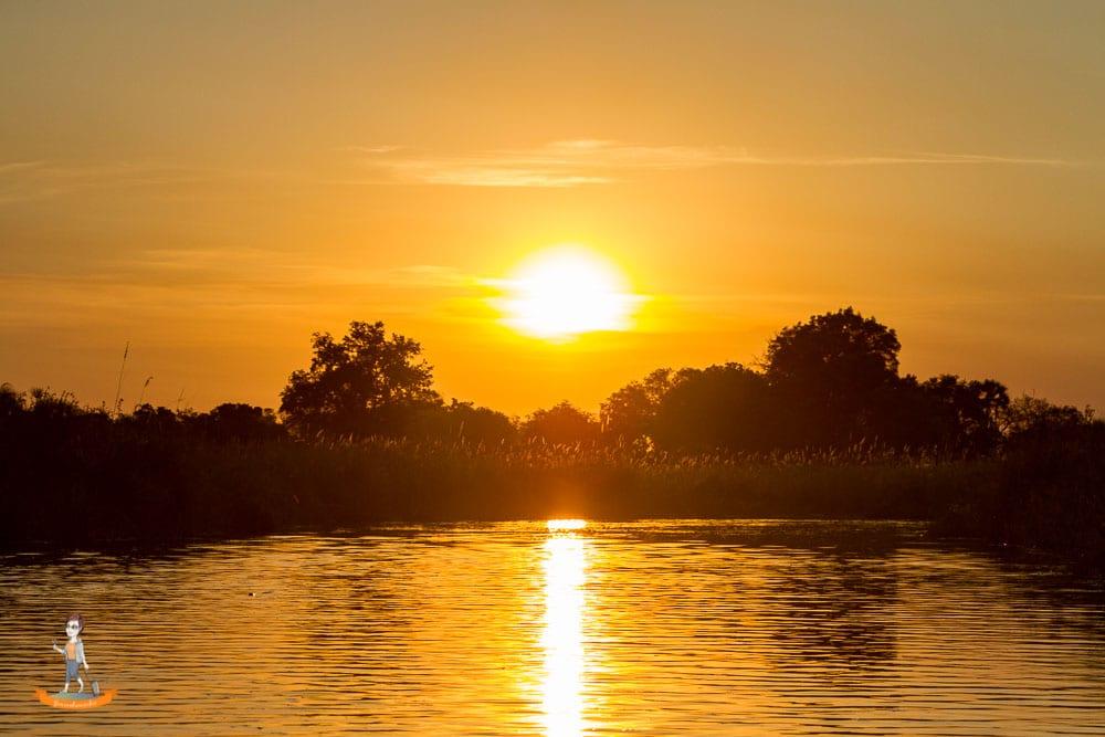 Okavango Delta Safari Sonnenuntergang