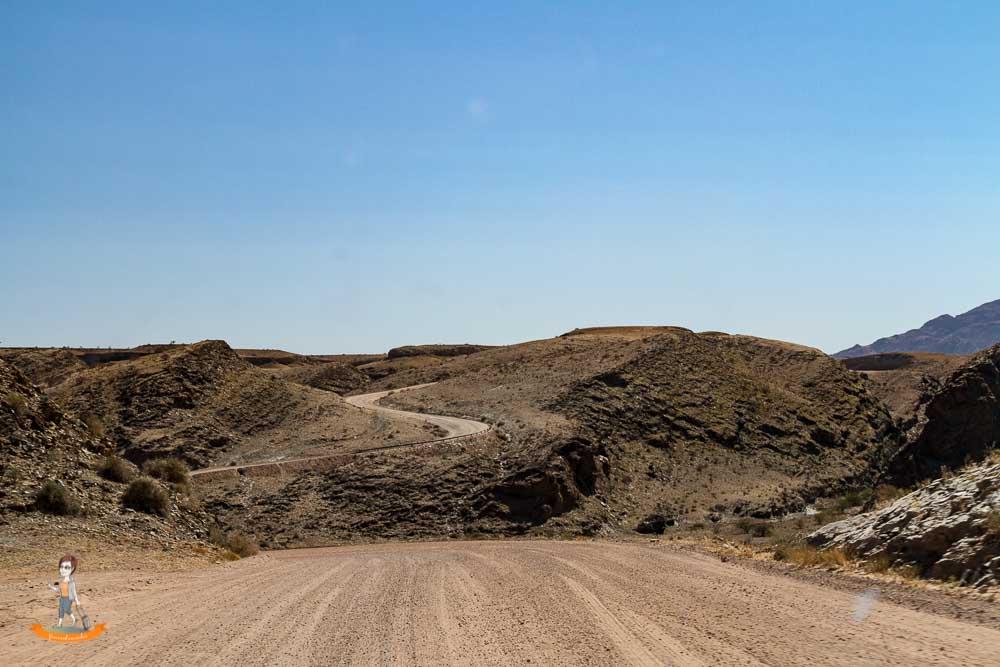 Strasse Sossusvlei Swakopmund Namibia