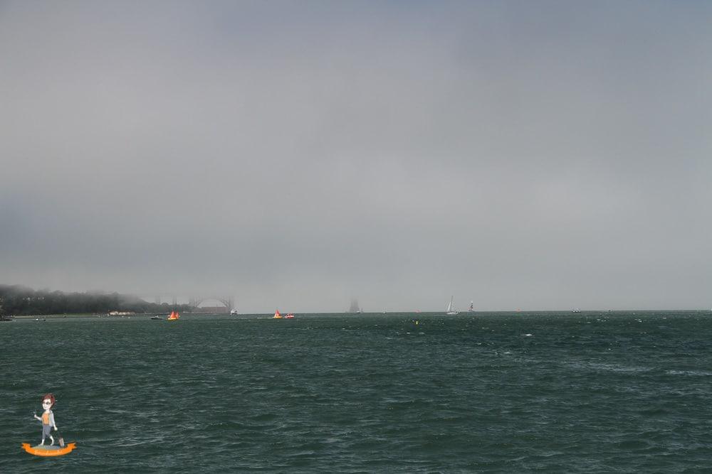 San Francisco Golden Gate Bridge Nebel