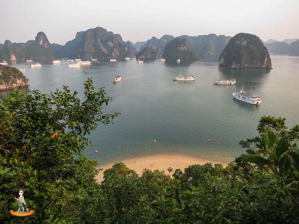 Vietnam Halong Bucht Schiffe