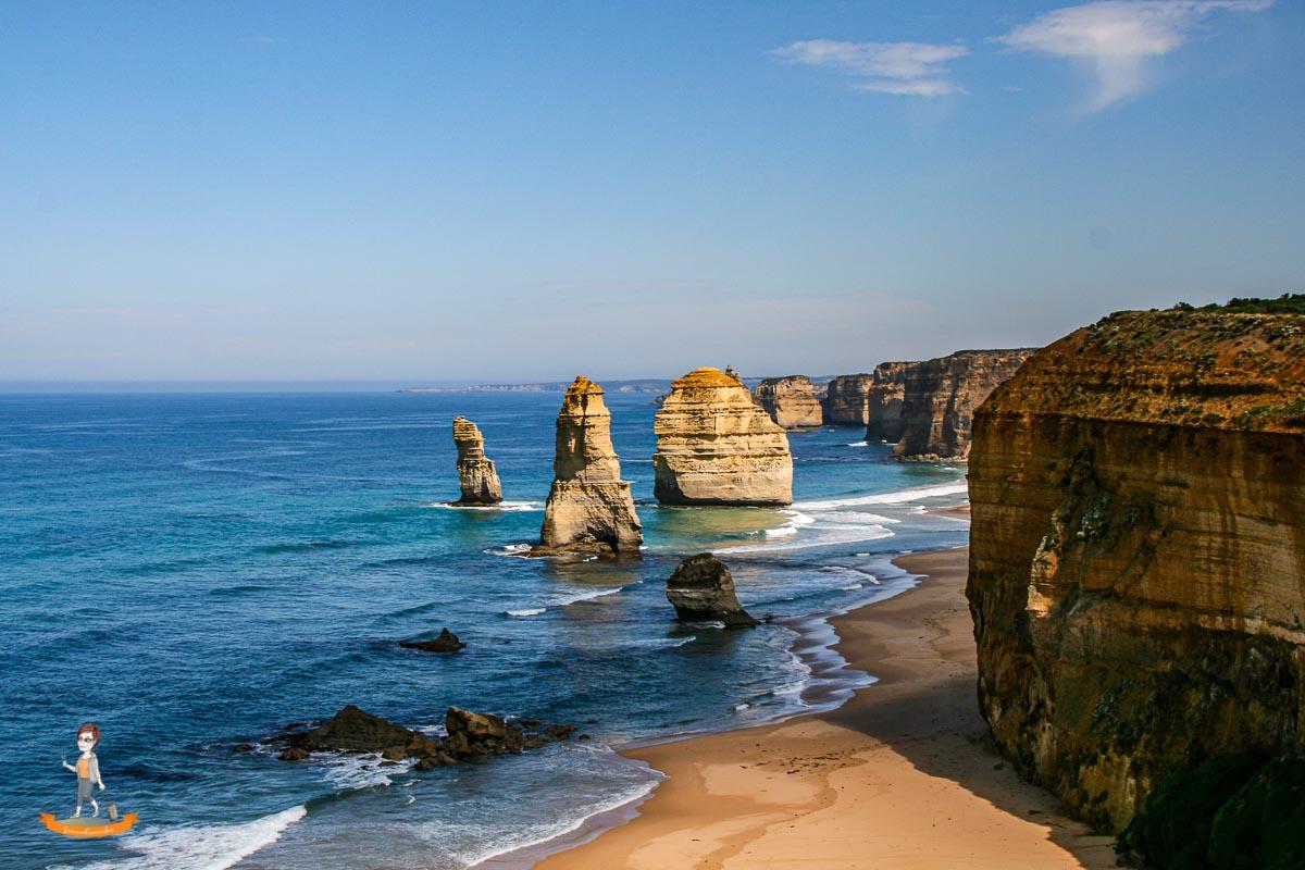 Reiseziel im Winter Twelve Apostels Australien