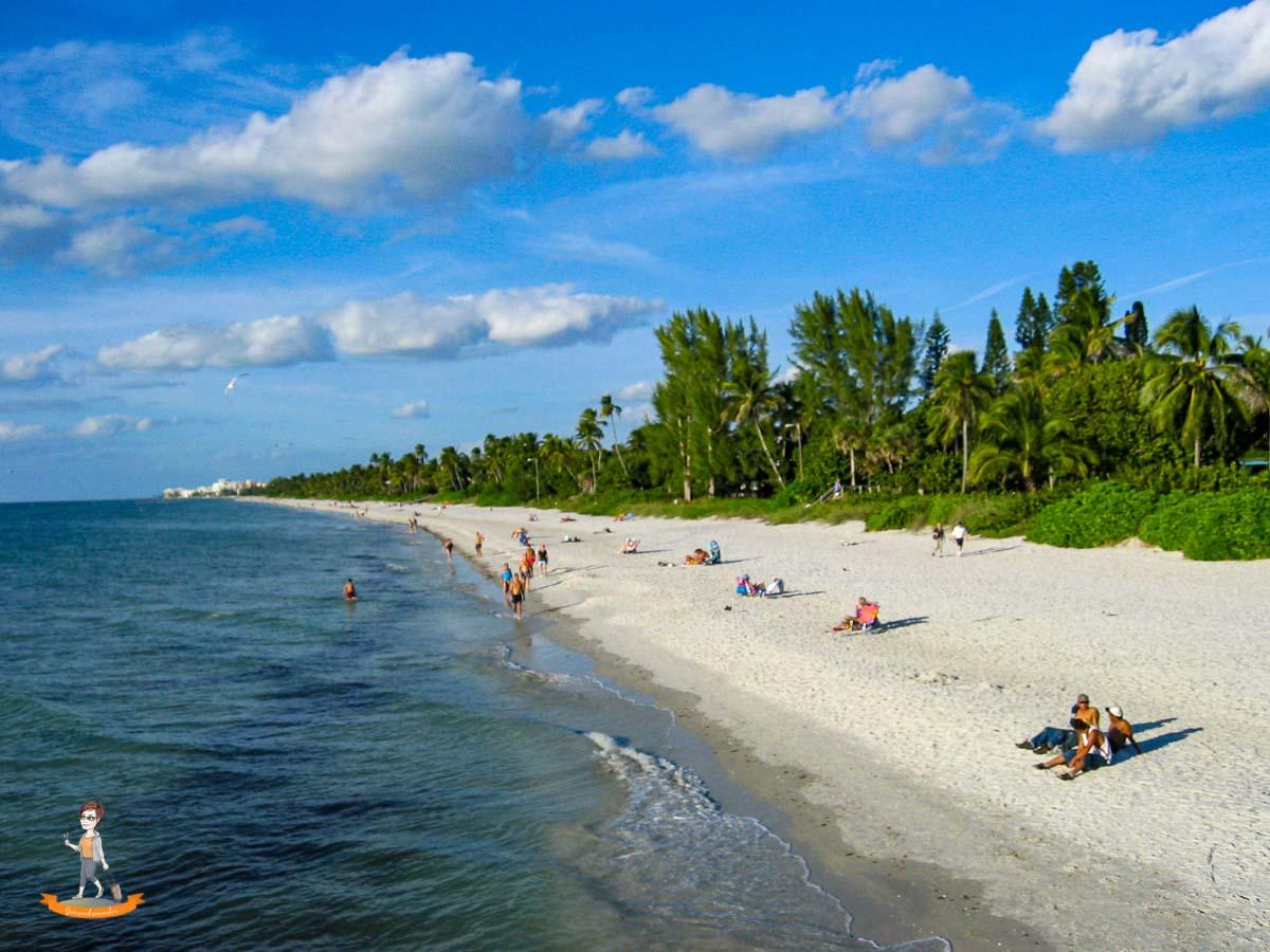 Reiseziel im Winter Strand von Florida