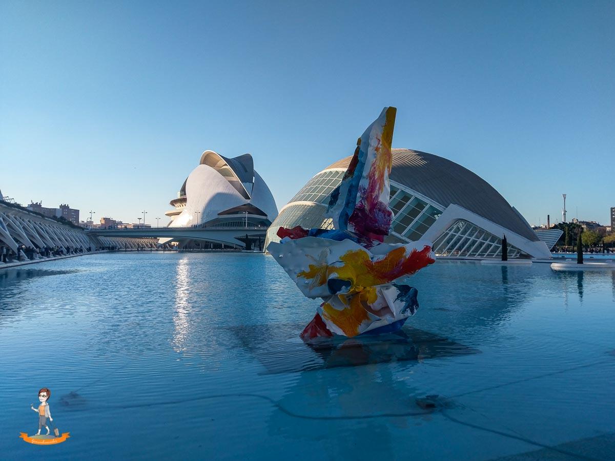 Reiseziel im Winter Valencia Ciutat de les Arts i les Ciències